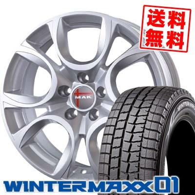 205/55R16 91Q DUNLOP ダンロップ WINTER MAXX 01 ウインターマックス 01 WM01 MAK TORINO MAK トリノ スタッドレスタイヤホイール4本セット
