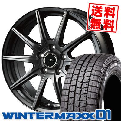 205/70R15 96Q DUNLOP ダンロップ WINTER MAXX 01 WM01 ウインターマックス 01 V-EMOTION GS10 Vエモーション GS10 スタッドレスタイヤホイール4本セット