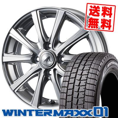 185/60R15 DUNLOP ダンロップ WINTER MAXX 01 WM01 ウインターマックス 01 AZ sports YL-10 AZスポーツ YL-10 スタッドレスタイヤホイール4本セット