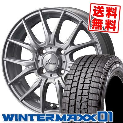 185/70R14 DUNLOP ダンロップ WINTER MAXX 01 WM01 ウインターマックス 01 ZEPHYR M2 ゼファー M2 スタッドレスタイヤホイール4本セット