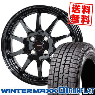 195/55RF16 87Q DUNLOP ダンロップ WINTER MAXX 01 WM01 RUNFLAT ウインターマックス 01 ランフラット G.speed G-04 Gスピード G-04 スタッドレスタイヤホイール4本セット