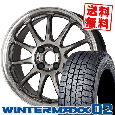185/60R16 DUNLOP ダンロップ WINTER MAXX 02 WM02 ウインターマックス 02 WORK EMOTION 11R ワーク エモーション 11R スタッドレスタイヤホイール4本セット