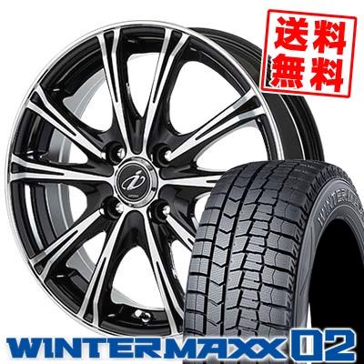 165/60R15 DUNLOP ダンロップ WINTER MAXX 02 WM02 ウインターマックス 02 5ZIGEN INPERIO X-5 5ジゲン インペリオ X-5 スタッドレスタイヤホイール4本セット