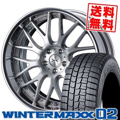 245/40R19 DUNLOP ダンロップ WINTER MAXX 02 WM02 ウインターマックス 02 weds MAVERICK 709M ウエッズ マーベリック 709M スタッドレスタイヤホイール4本セット