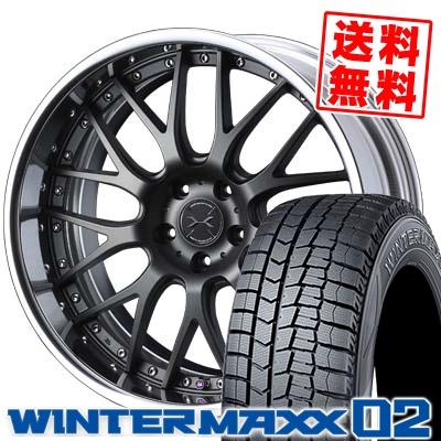 225/45R19 DUNLOP ダンロップ WINTER MAXX 02 WM02 ウインターマックス 02 weds MAVERICK 709M ウエッズ マーベリック 709M スタッドレスタイヤホイール4本セット