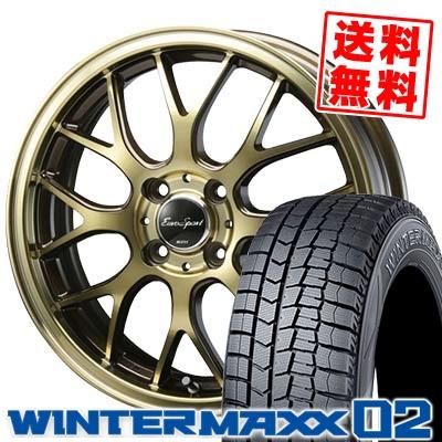 165/55R14 DUNLOP ダンロップ WINTER MAXX 02 WM02 ウインターマックス 02 Eouro Sport Type 805 ユーロスポーツ タイプ805 スタッドレスタイヤホイール4本セット