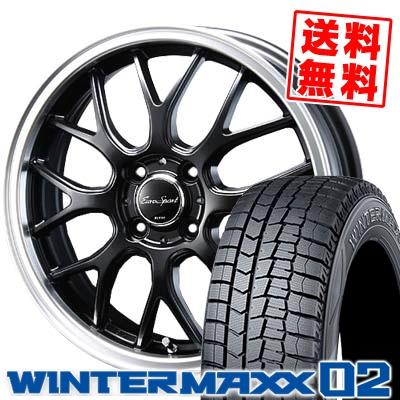 165/55R14 DUNLOP ダンロップ WINTER MAXX 02 WM02 ウインターマックス 02 Eoro Sport Type 805 ユーロスポーツ タイプ805 スタッドレスタイヤホイール4本セット