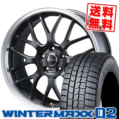 235/50R18 DUNLOP ダンロップ WINTER MAXX 02 WM02 ウインターマックス 02 Eoro Sport Type 805 ユーロスポーツ タイプ805 スタッドレスタイヤホイール4本セット