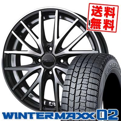 165/65R14 DUNLOP ダンロップ WINTER MAXX 02 WM02 ウインターマックス 02 Precious AST M1 プレシャス アスト M1 スタッドレスタイヤホイール4本セット