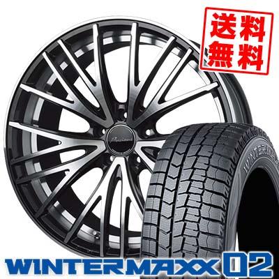 225/55R18 DUNLOP ダンロップ WINTER MAXX 02 WM02 ウインターマックス 02 Precious AST M1 プレシャス アスト M1 スタッドレスタイヤホイール4本セット