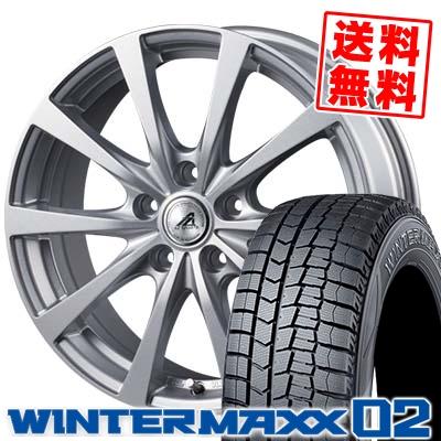 205/60R15 91Q DUNLOP ダンロップ WINTER MAXX 02 WM02 ウインターマックス 02 AZ SPORTS EX10 AZスポーツ EX10 スタッドレスタイヤホイール4本セット