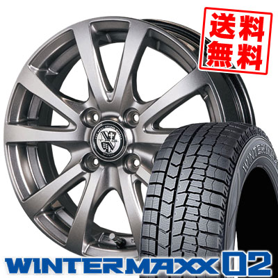 185/55R16 DUNLOP ダンロップ WINTER MAXX 02 WM02 ウインターマックス 02 TRG-BAHN TRG バーン スタッドレスタイヤホイール4本セット