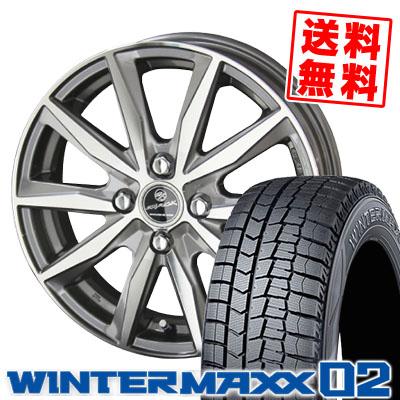 145/80R13 DUNLOP ダンロップ WINTER MAXX 02 WM02 ウインターマックス 02 SMACK BASALT スマック バサルト スタッドレスタイヤホイール4本セット