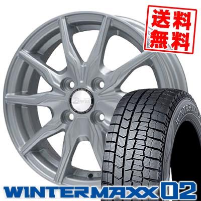 185/60R15 DUNLOP ダンロップ WINTER MAXX 02 WM02 ウインターマックス 02 B-WIN KRX B-WIN KRX スタッドレスタイヤホイール4本セット