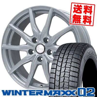 205/65R16 DUNLOP ダンロップ WINTER MAXX 02 WM02 ウインターマックス 02 B-WIN KRX B-WIN KRX スタッドレスタイヤホイール4本セット