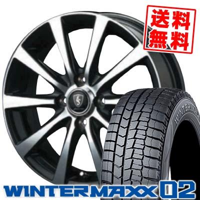 195/55R16 DUNLOP ダンロップ WINTER MAXX 02 WM02 ウインターマックス 02 EuroSpeed BL10 ユーロスピード BL10 スタッドレスタイヤホイール4本セット