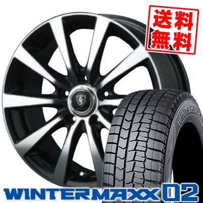215/65R16 DUNLOP ダンロップ WINTER MAXX 02 WM02 ウインターマックス 02 EuroSpeed BL10 ユーロスピード BL10 スタッドレスタイヤホイール4本セット
