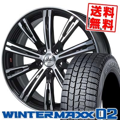245/45R19 DUNLOP ダンロップ WINTER MAXX 02 WM02 ウインターマックス 02 Bahnsport TYPE 525 バーンシュポルト タイプ525 スタッドレスタイヤホイール4本セット