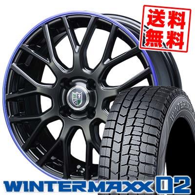 185/55R16 DUNLOP ダンロップ WINTER MAXX 02 WM02 ウインターマックス 02 Bahnsport Type902 バーンシュポルト タイプ902 スタッドレスタイヤホイール4本セット