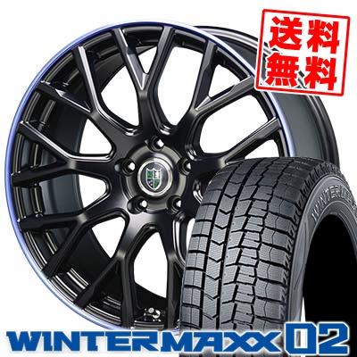 215/50R17 DUNLOP ダンロップ WINTER MAXX 02 WM02 ウインターマックス 02 Bahnsport Type902 バーンシュポルト タイプ902 スタッドレスタイヤホイール4本セット