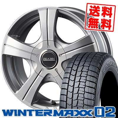 195/65R15 91Q DUNLOP ダンロップ WINTER MAXX 02 WM02 ウインターマックス 02 ZEABEC BT-5 ジーベック BT-5 スタッドレスタイヤホイール4本セット