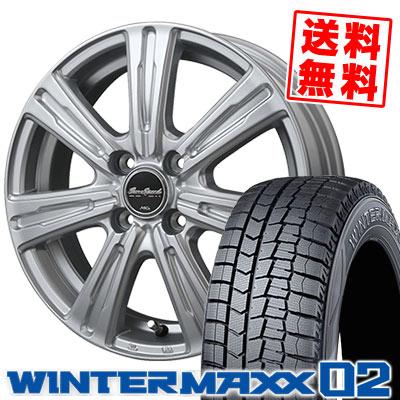 165/60R15 77Q DUNLOP ダンロップ WINTER MAXX 02 WM02 ウインターマックス 02 EuroSpeed C-07 ユーロスピード C-07 スタッドレスタイヤホイール4本セット