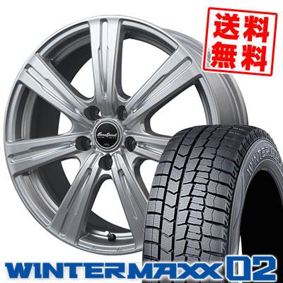 215/70R15 98Q DUNLOP ダンロップ WINTER MAXX 02 WM02 ウインターマックス 02 EuroSpeed C-07 ユーロスピード C-07 スタッドレスタイヤホイール4本セット