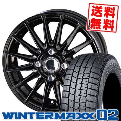 185/55R15 82Q DUNLOP ダンロップ WINTER MAXX 02 WM02 ウインターマックス 02 CIRCLAR VERSION DF サーキュラー バージョン DF スタッドレスタイヤホイール4本セット