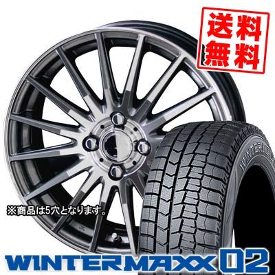 195/70R15 92Q DUNLOP ダンロップ WINTER MAXX 02 WM02 ウインターマックス 02 CIRCLAR VERSION DF サーキュラー バージョン DF スタッドレスタイヤホイール4本セット