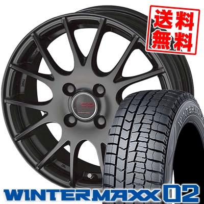 165/50R16 DUNLOP ダンロップ WINTER MAXX 02 WM02 ウインターマックス 02 ENKEI CREATIVE DIRECTION CDM1 エンケイ クリエイティブ ディレクション CD-M1 スタッドレスタイヤホイール4本セット