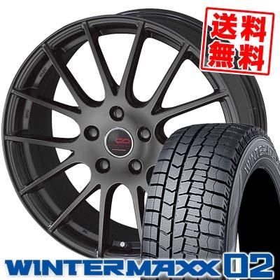 195/65R16 DUNLOP ダンロップ WINTER MAXX 02 WM02 ウインターマックス 02 ENKEI CREATIVE DIRECTION CDM1 エンケイ クリエイティブ ディレクション CD-M1 スタッドレスタイヤホイール4本セット