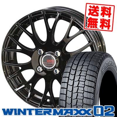 175/70R14 84Q DUNLOP ダンロップ WINTER MAXX 02 WM02 ウインターマックス 02 ENKEI CREATIVE DIRECTION CDM2 エンケイ クリエイティブ ディレクション CD-M2 スタッドレスタイヤホイール4本セット