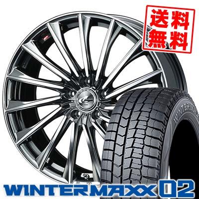 215/50R17 DUNLOP ダンロップ WINTER MAXX 02 WM02 ウインターマックス 02 WEDS LEONIS CH ウェッズ レオニス CH スタッドレスタイヤホイール4本セット