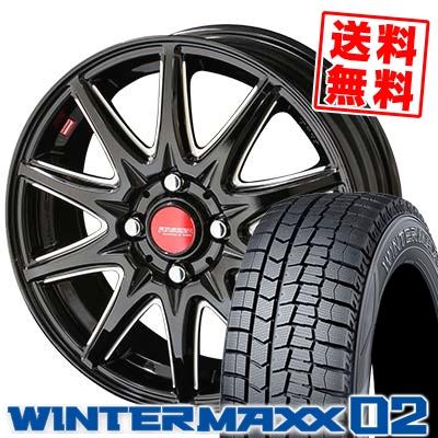 195/55R15 DUNLOP ダンロップ WINTER MAXX 02 WM02 ウインターマックス 02 RIVAZZA CORSE リヴァッツァ コルセ スタッドレスタイヤホイール4本セット