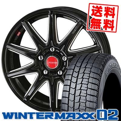 195/65R15 DUNLOP ダンロップ WINTER MAXX 02 WM02 ウインターマックス 02 RIVAZZA CORSE リヴァッツァ コルセ スタッドレスタイヤホイール4本セット