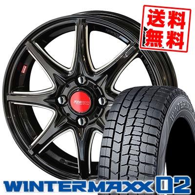 155/65R14 DUNLOP ダンロップ WINTER MAXX 02 WM02 ウインターマックス 02 RIVAZZA CORSE 8SPOKE リヴァッツァ コルセ 8スポーク スタッドレスタイヤホイール4本セット