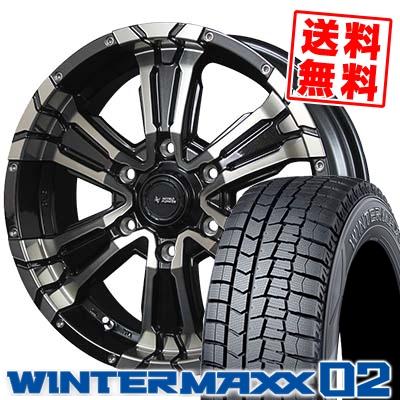 215/65R16 DUNLOP ダンロップ WINTER MAXX 02 WM02 ウインターマックス 02 NITRO POWER CROSS CLAW ナイトロパワー クロスクロウ スタッドレスタイヤホイール4本セット