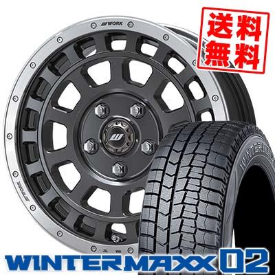 195/65R16 DUNLOP ダンロップ WINTER MAXX 02 WM02 ウインターマックス 02 CRAG T-GRABIC クラッグ Tグラビック スタッドレスタイヤホイール4本セット