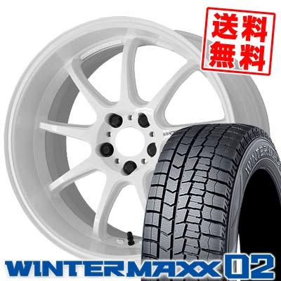 245/45R19 DUNLOP ダンロップ WINTER MAXX 02 WM02 ウインターマックス 02 WORK EMOTION D9R ワーク エモーション D9R スタッドレスタイヤホイール4本セット
