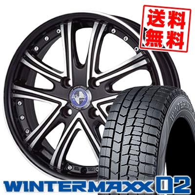 165/55R15 DUNLOP ダンロップ WINTER MAXX 02 WM02 ウインターマックス 02 Warwic DS.05 ワーウィック DS.05 スタッドレスタイヤホイール4本セット