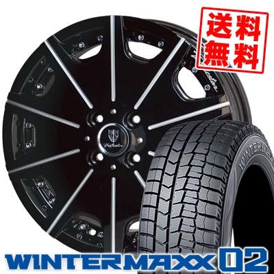 165/60R15 DUNLOP ダンロップ WINTER MAXX 02 WM02 ウインターマックス 02 Trafficstar DTX MONOBLOCK トラフィックスター DTX モノブロック スタッドレスタイヤホイール4本セット