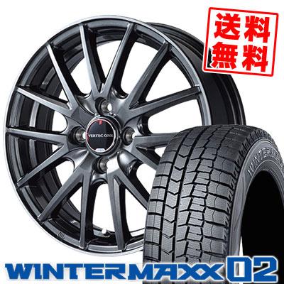 175/65R15 84Q DUNLOP ダンロップ WINTER MAXX 02 WM02 ウインターマックス 02 VERTEC ONE Eins.1 ヴァーテック ワン アインス ワン スタッドレスタイヤホイール4本セット