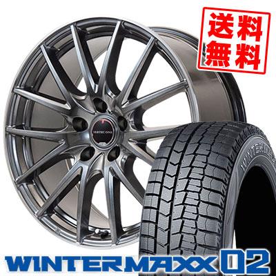 215/55R16 93Q DUNLOP ダンロップ WINTER MAXX 02 WM02 ウインターマックス 02 VERTEC ONE Eins.1 ヴァーテック ワン アインス ワン スタッドレスタイヤホイール4本セット