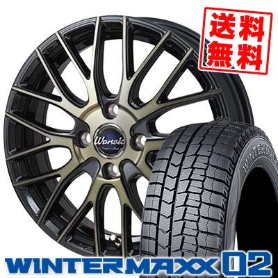 175/60R15 DUNLOP ダンロップ WINTER MAXX 02 WM02 ウインターマックス 02 Warwic Empress Mesh ワーウィック エンプレスメッシュ スタッドレスタイヤホイール4本セット