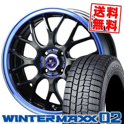 155/55R14 DUNLOP ダンロップ WINTER MAXX 02 WM02 ウインターマックス 02 EXPLODE-RBM エクスプラウド RBM スタッドレスタイヤホイール4本セット
