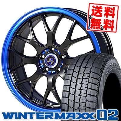 225/45R17 DUNLOP ダンロップ WINTER MAXX 02 WM02 ウインターマックス 02 EXPLODE-RBM エクスプラウド RBM スタッドレスタイヤホイール4本セット