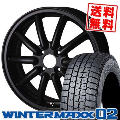 165/55R14 DUNLOP ダンロップ WINTER MAXX 02 WM02 ウインターマックス 02 ALGERNON Fenice RX1 アルジェノン フェニーチェ RX1 スタッドレスタイヤホイール4本セット