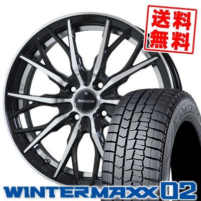 185/60R15 DUNLOP ダンロップ WINTER MAXX 02 WM02 ウインターマックス 02 Stich LEGZAS FUHLER シュティッヒ レグザス フューラー スタッドレスタイヤホイール4本セット