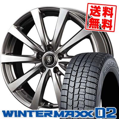 215/65R16 DUNLOP ダンロップ WINTER MAXX 02 WM02 ウインターマックス 02 Euro Speed G10 ユーロスピード G10 スタッドレスタイヤホイール4本セット