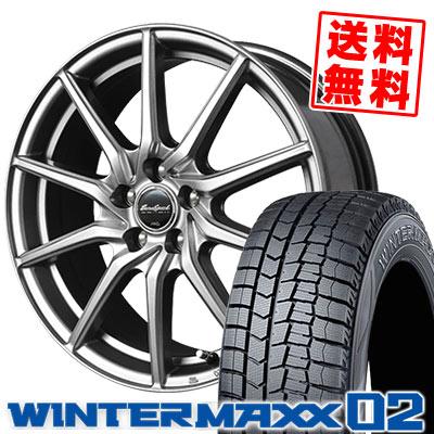 185/55R15 82Q DUNLOP ダンロップ WINTER MAXX 02 WM02 ウインターマックス 02 EuroSpeed G810 ユーロスピード G810 スタッドレスタイヤホイール4本セット